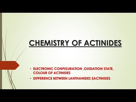 CHEMISTRY OF ACTINIDES  ( DIFFERENC B/N LANTHANIDES $ACTINIDES)|ONLINE CHEMISTRY|