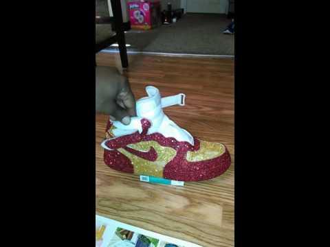 LeBron James glitter air force ones! Coolclean kicks