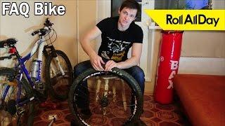 видео как снять колесо велосипеда