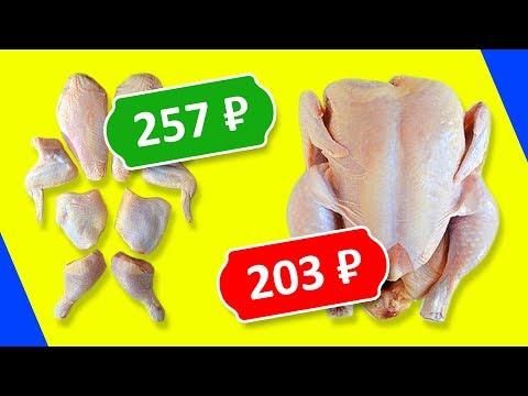 Сколько на самом деле стоит курица? Какие полуфабрикаты выгодно покупать? Куриные исследования