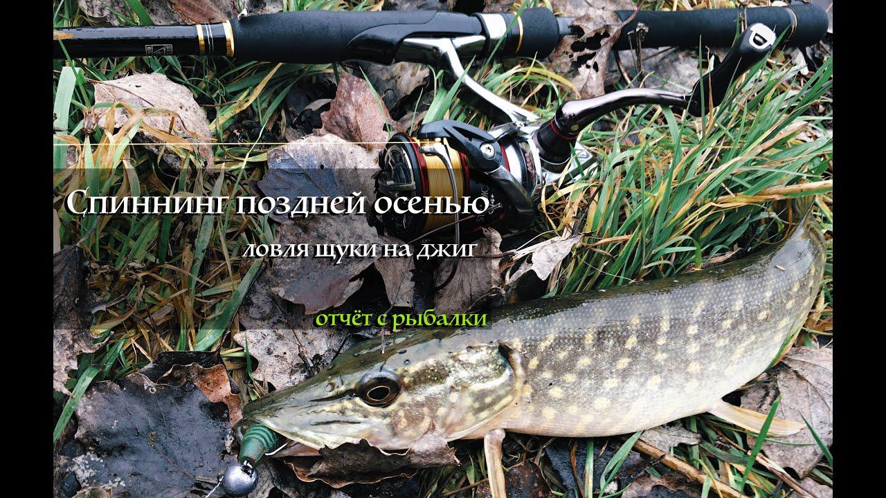 Ловля щуки на реке в ноябре