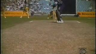 Very young Jason Gillespie stunning bowling vs Richie Richardson 1996
