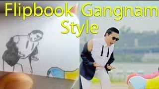 Flipbook Gangnam Style -vs- Psy Gangnam Style.  AMAZING!