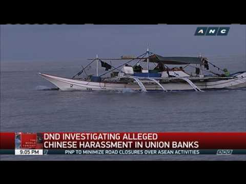 DND investigating alleged Chinese harassment of Pinoy fishermen