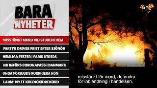 Här brinner studentboendet i Halmstad – man gripen för knivmord
