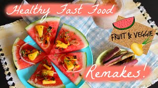 Fruit&veggie Fast Food?! Hawaiian Watermelon Pizza &  Milkshake Recipe!