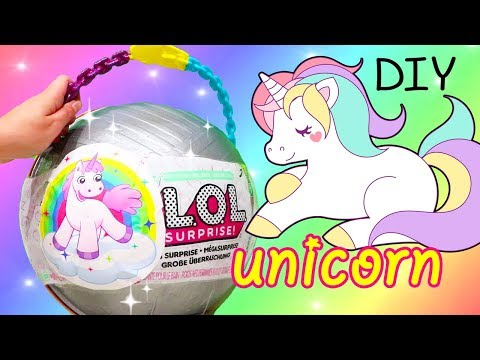 LOL Big Surprise CUSTOM Ball Unicorn DIY ! Toys and Dolls Fun for Kids with Blind Bags | SWTAD