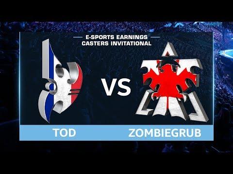 StarCraft 2 - ToD vs. ZombieGrub (PvT) - EsportsEarnings Casters Invitational - Playoffs Quarters #2