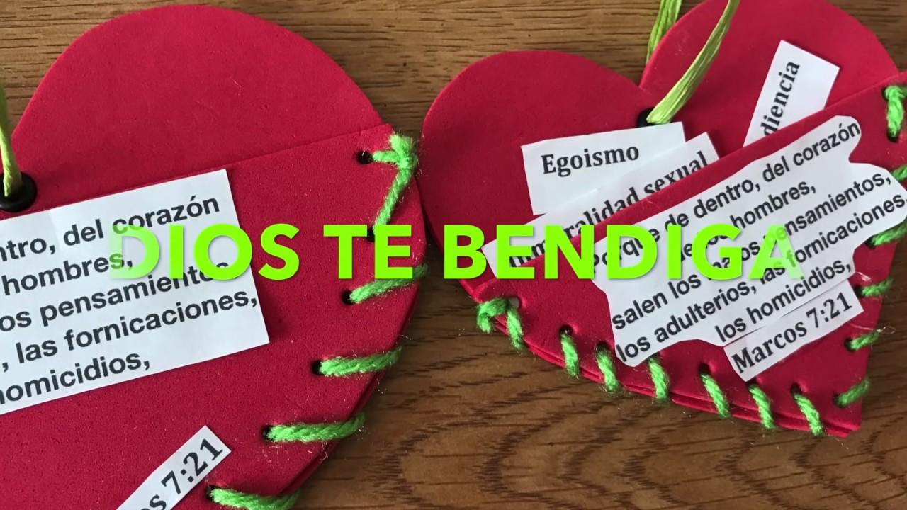 Manualidades Para La Escuela Dominical El Corazon Youtube