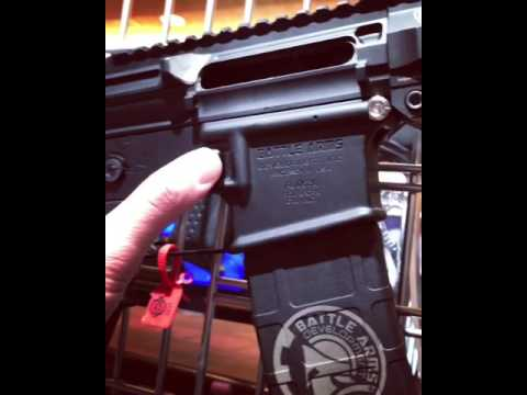 2017 SHOT Show: Battle Arms Development California Compliant Rear Takedown  Pin and Magazine Release