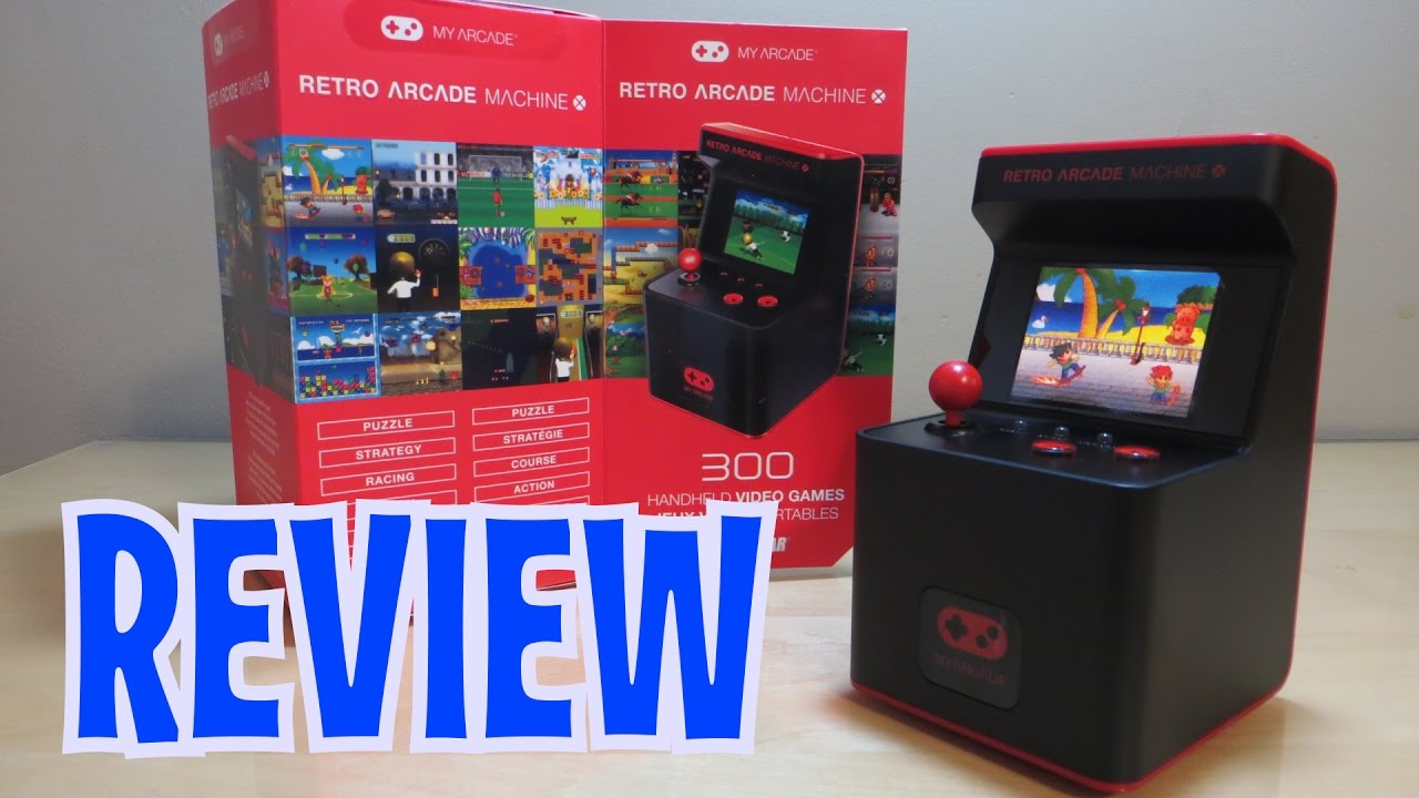 Mini Retro Arcade Machine - DreamGear - UNBOXING & FULL REVIEW ...