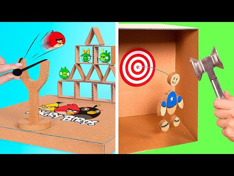 DIY Games from Cardboard || How to Make Cardboard Versions of Angry Birds And Kick the Buddy At Home