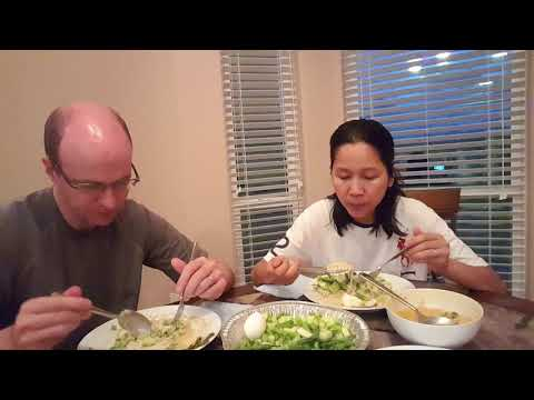 ขนมจีนน้ำยากะทิไก่ มะม่วงอร่อยๆ อาหารลดน้ำหนัก ภาษาอังกฤษ