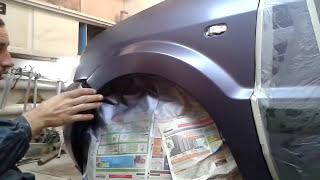 Покраска крыла переходом в гараже своими руками ,качественно(Качественный ремонт ,рихтовка и покраска в гараже своими руками и что для этого нужно., 2014-12-24T15:16:37.000Z)