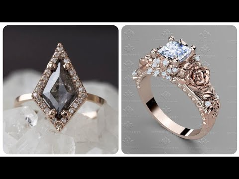 Outstanding Women Elegant Rose Gold And Diamond Engagement And Promise Rings Must Buy