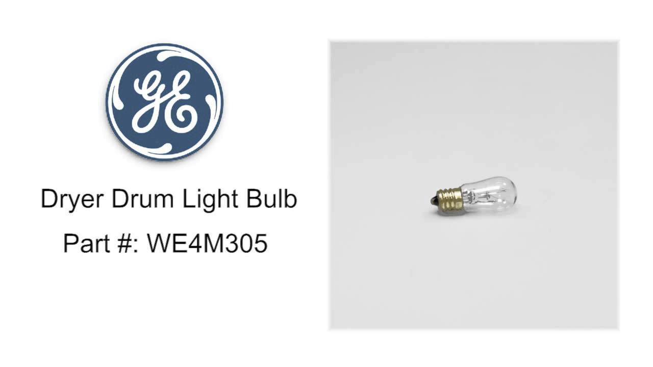 Ge dryer drum light bulb part we4m305 youtube ge dryer drum light bulb part we4m305 sciox Gallery