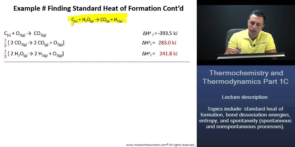 how to find standard heat of formation