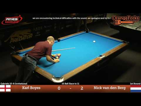 Karl Boyes vs Nick van den Berg ᴴᴰ | Deurne City Classic 2016 | Gabriels 10-ft Invitational