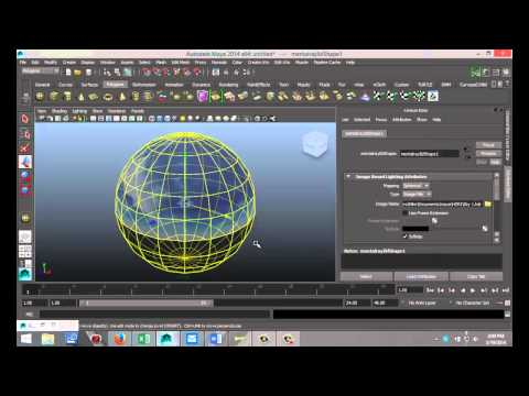Maya 2014 tutorial : How to create IBL ( Image Based Lighting ) with HDR files
