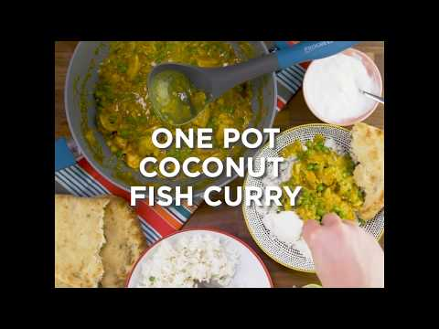 One Pot Fish Curry Progress BW04959T Forged Aluminium Non Stick Wok