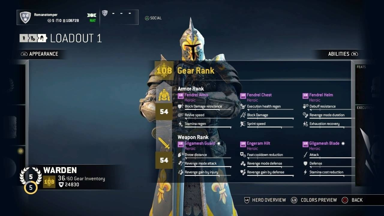 For Honor Best Gear Builds