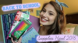 Back to School Supplies Haul 2016