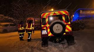 Neige : des automobilistes bloqués plusieurs heures (6 février 2018, Bièvres, France)