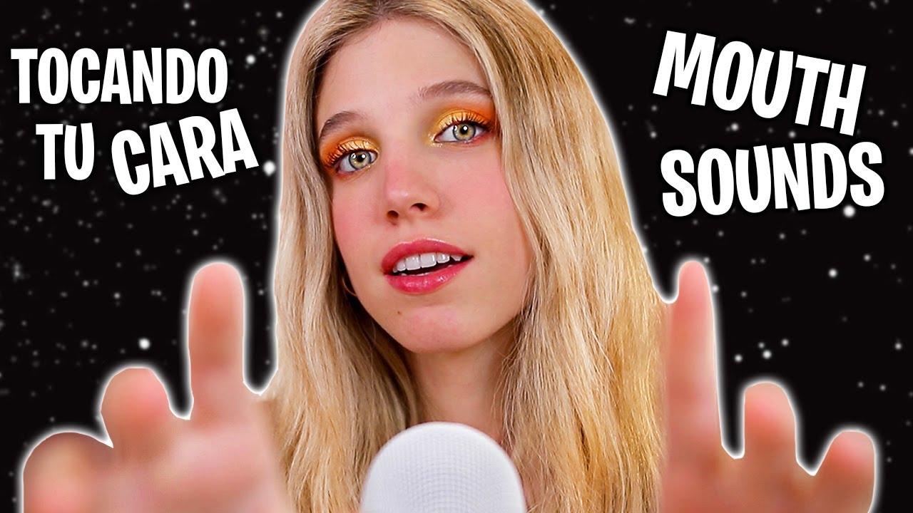 ASMR TOCANDO TU CARA + MOUTH SOUNDS (Hasta que te duermas) 💆🏼♀️