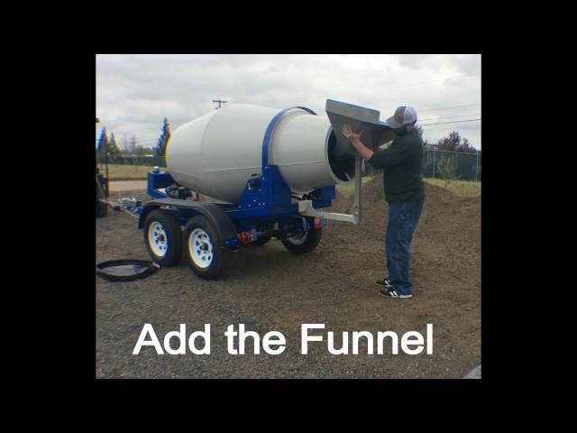 PortaLoader-  Concrete mixer loading