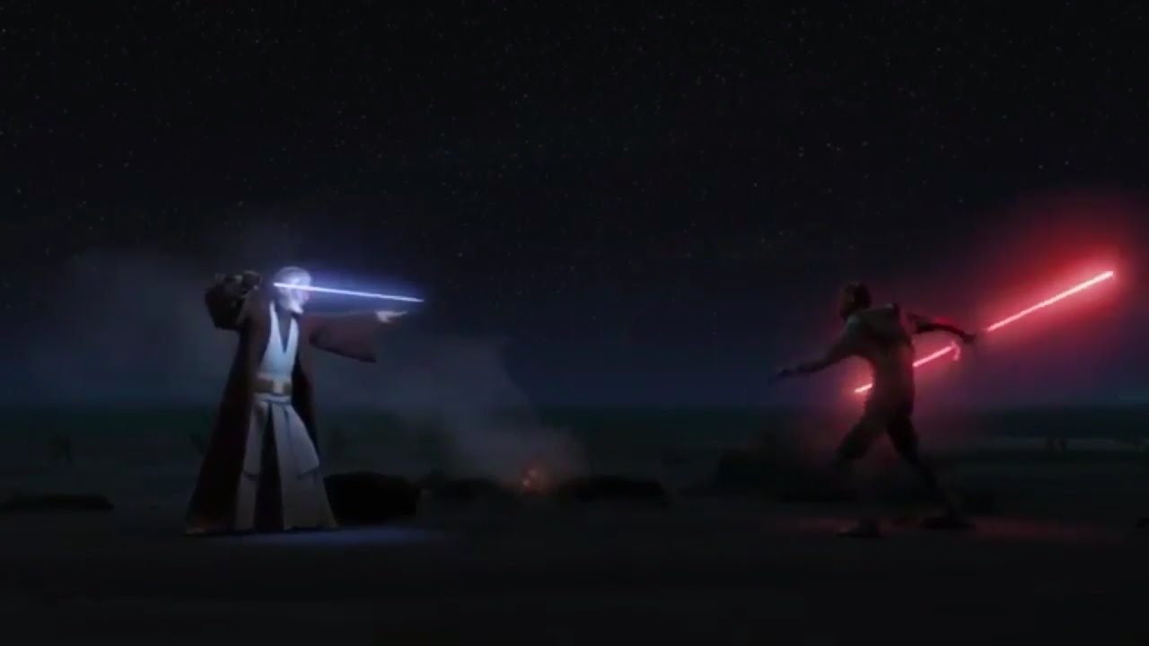 Star Wars Rebels Obi-Wan vs Maul / Maul Death - YouTube