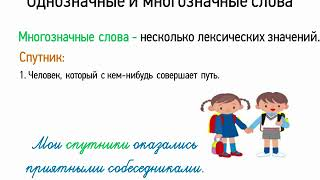 Однозначные и многозначные слова (5 класс, видеоурок-презентация)