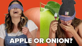 Blind Taste Test: Apple vs Onion
