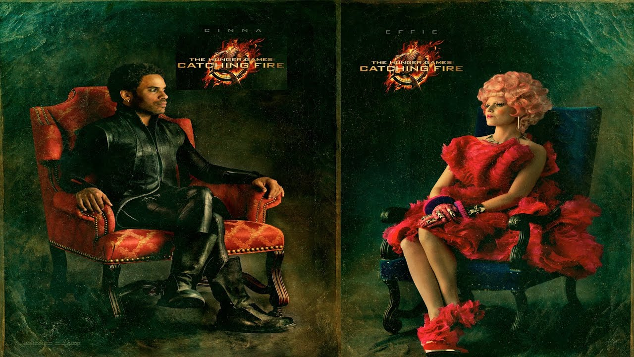 The Hunger Games Catching Fire Lenny Kravitz & Elizabeth Banks