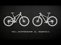 Mountain Bikes: Full Suspension vs. Hardtail
