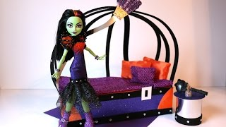How To Make A Casta Fierce Doll Bed Tutorial - Monster High