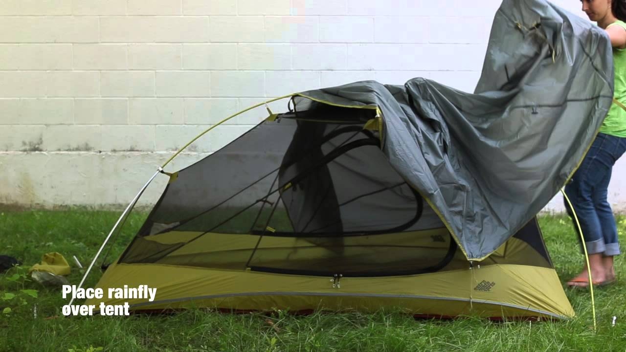 & How to set up the EMS Velocity 2 Tent: Eastern Mountain... - YouTube