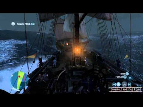 Assassin's Creed 3's Sink Ships by Firing on their Powder Stores