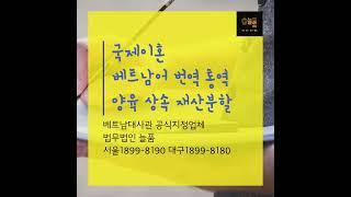 법무법인늘품1899-8180 베트남대사관인증 베트남국제…