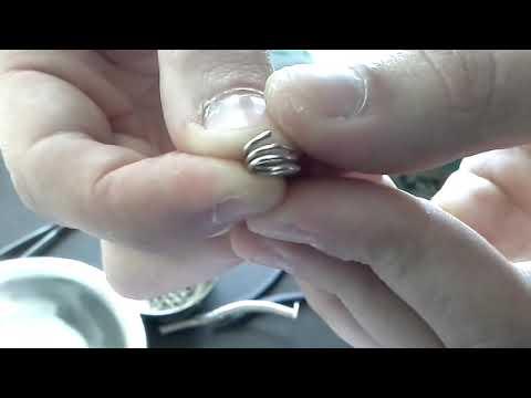 Отрезание колец для цепочки