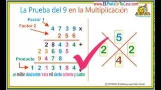 La prueba del 9 en la multiplicación -www.MatematicaPasoAPaso.com