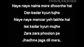 main Pareshaan karaoke - ishaqzaade