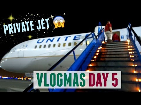 FLYING IN A PRIVATE JET | College Vlogmas Day 5