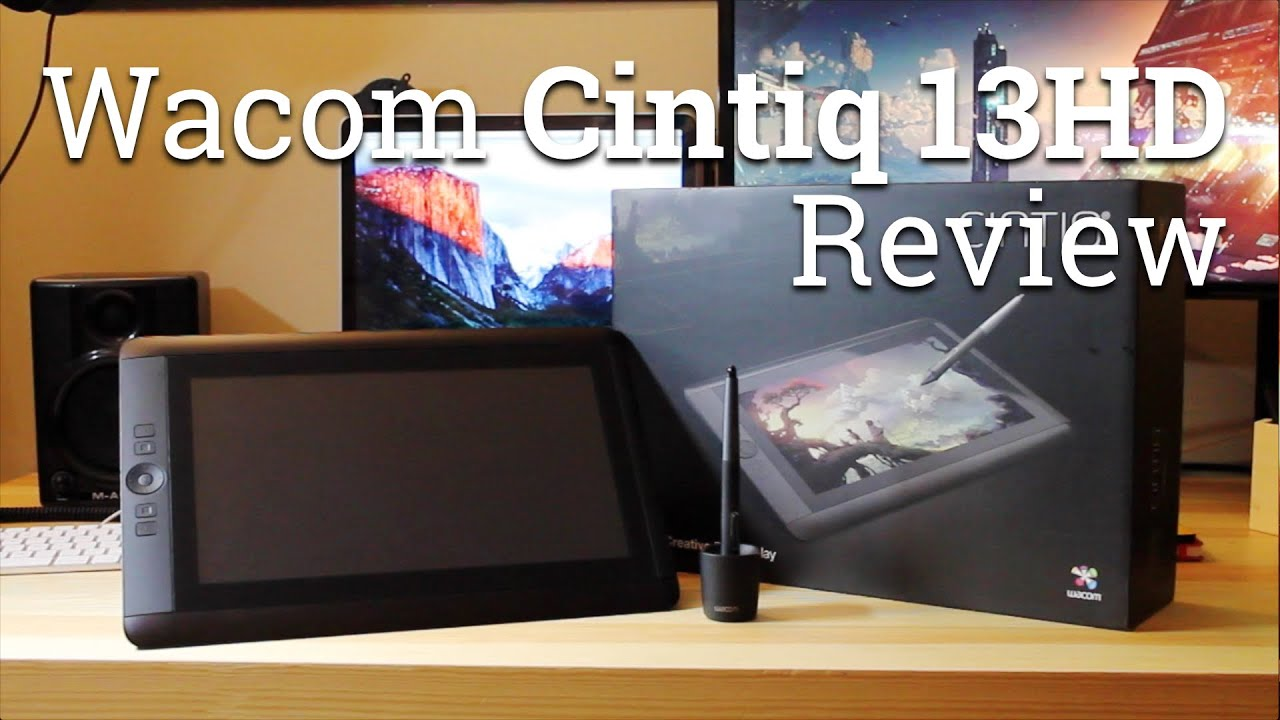 wacom cintiq 13hd pen tablet display review youtube