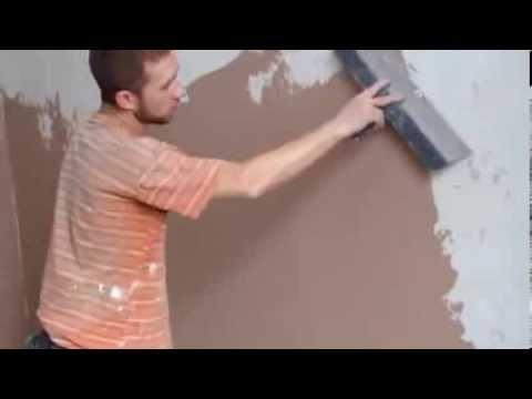 Шпаклевка стен под обои в один слой