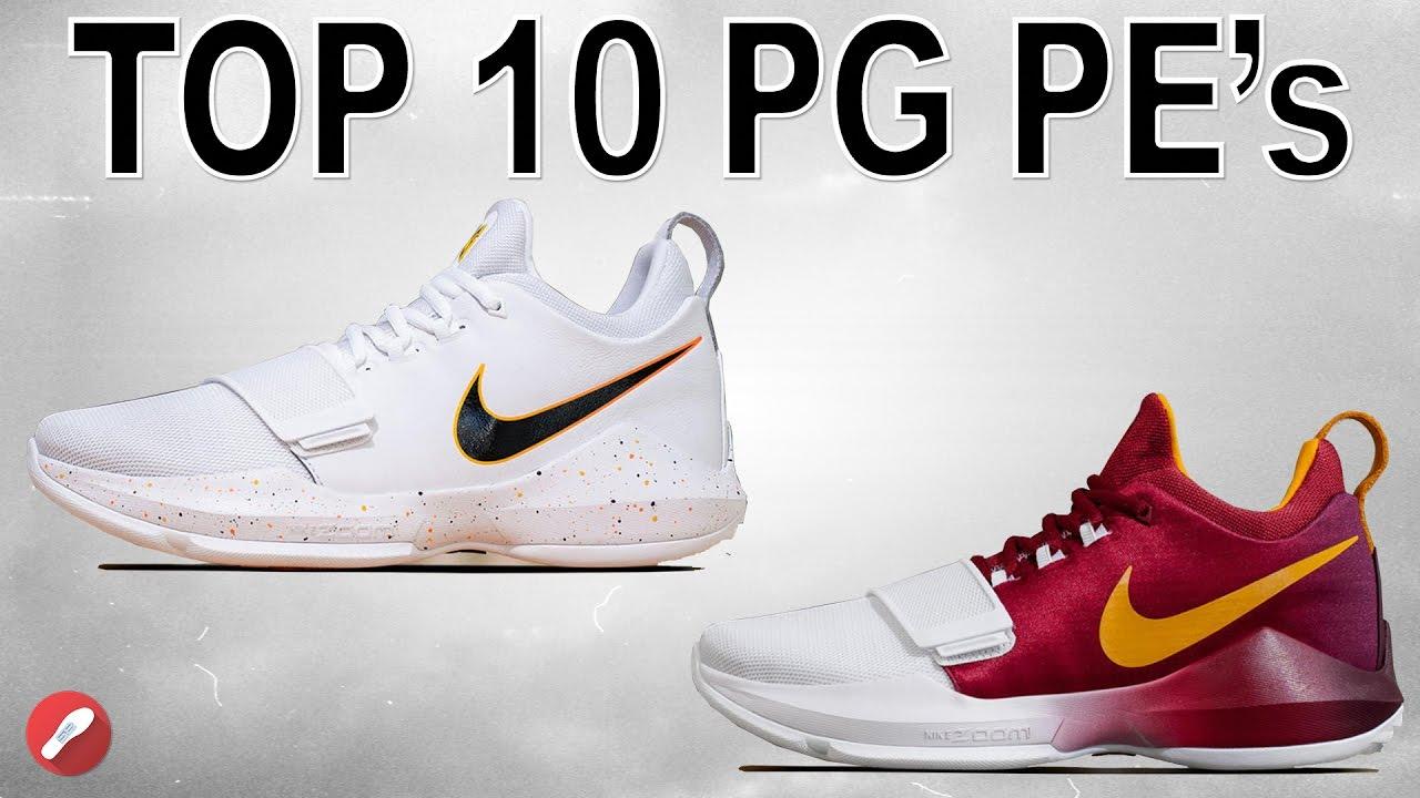 top 10 nike pg 1 pe colorways!su youtube