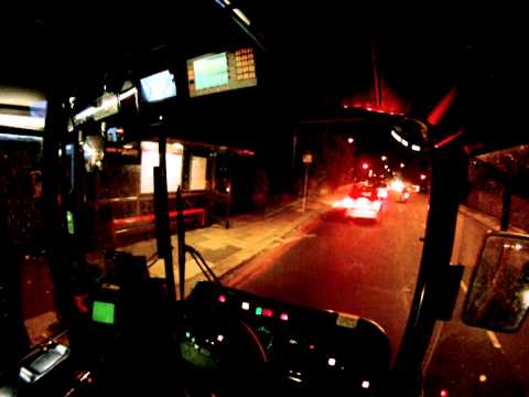 London bus driver view at night - Part 1 ✔