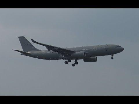 4K | Impressive Airbus A330 MRTT Tanker landing at SXF for ILA Berlin Air Show 2016