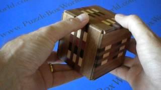 Karakuri New Secret Box Iii Japanese Puzzle Box.  No Spoiler!