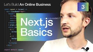 Next.js Basics #3 Building an Online Business