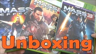 Mass Effect \ Mass Effect 2 \ Mass Effect 3 - Xbox 360 - UNBOXING
